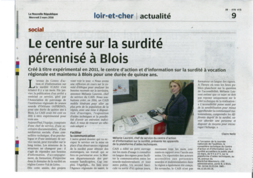 Le centre sur la surdité pérennisé à Blois P2
