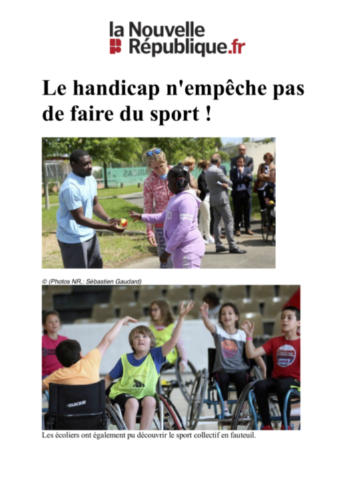 Le handicap n'empêche pas de faire du sport